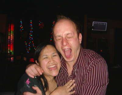 Jen & Ivan at karaoke