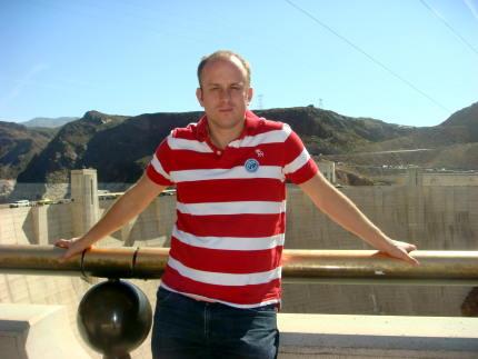 Ivan in front of the Hoover Dam