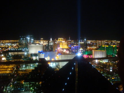 Las Vegas Strip view from Mix