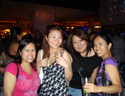Me, Mao, Lisa and Charisse at eyecandy